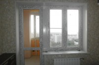 Остекление балконного блока профилем ПВХ